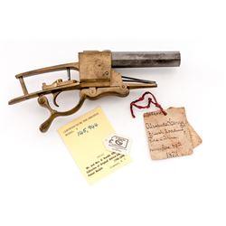 Rare 19th C. Patent Model: ''Breechloading Fire-Arm