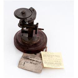 Rare 19th C. Patent Model: ''Machine/Grooving Bullets