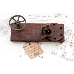 19th U.S. Patent Model: ''Mode of Priming Metallic Cartridges''