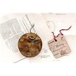19th C. U.S. Patent Model: ''Perc. Cap Box''