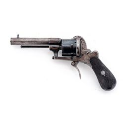 Antique (Likely Belgian/French) Pinfire Revolver