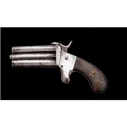 Antique European O/U Pinfire Pocket Pistol