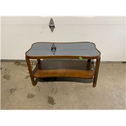 mirror top table