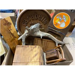 Coasters and other wood items, cheese tray ect