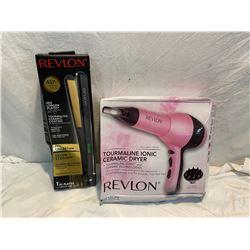 Revlon straightener and hair blower