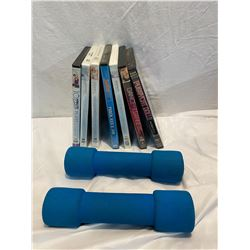 Workout DVD's and weights