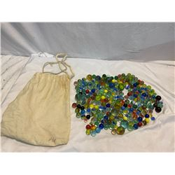 Marbles and bag