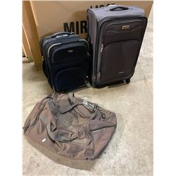 2 suite cases and bag