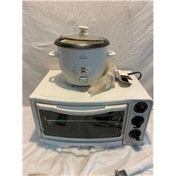 Toaster oven and rice cooker