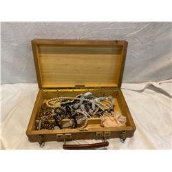 wood box with fashion jewelry