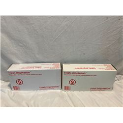 2 boxes size small disposable gloves