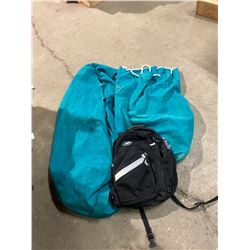 2 Canvas bags and backpack