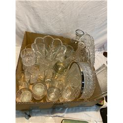 box crystal and glassware