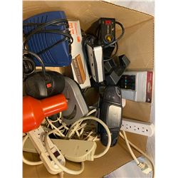 Box of electronics power cord and remote