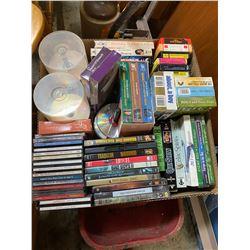 8 tracks, DVD's and cds ect