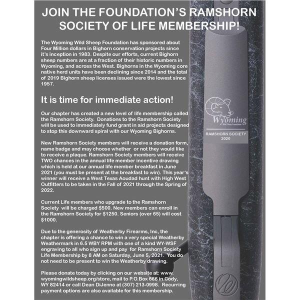 WY-WSF Ramshorn Society Membership