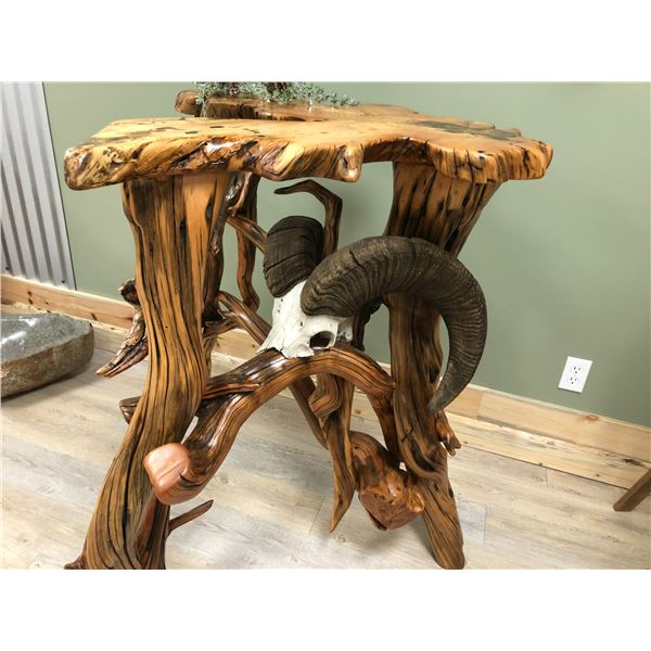 Sculpted, Reclaimed Root Ball Table