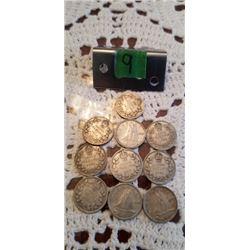 10 silver dimes