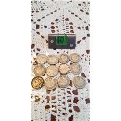 12 silver dimes
