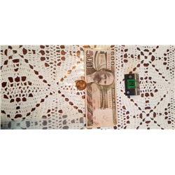 1981 mexico 500 pesos note & 1967 cinco centavos
