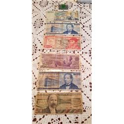 6 notes of Mexico from the 1970's 71980's