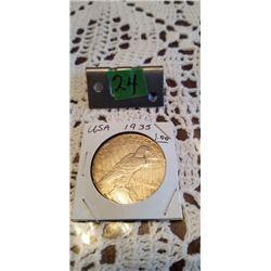 1935 U.S.A Silver Dollar