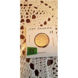 1934 5 cent