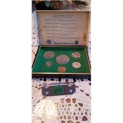 1867-1967 CANADA CENTENNIAL COIN SET FROM BANK OF MONTREAL