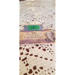 1971 $10.00 LA/BO NOTE