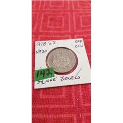 1978 SQ. JEWEL 50 CENT PIECE