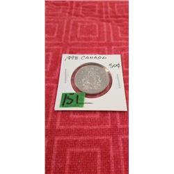 1998 50 CENT  BRILLANT UNC.