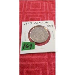 2013 50 CENT BRILLANT UNC.