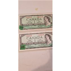 2 1954 $1.00 NOTES