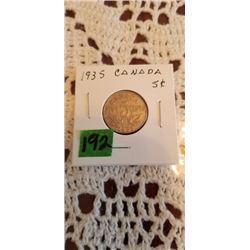 1935 5 cent