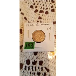 1936 5 cent