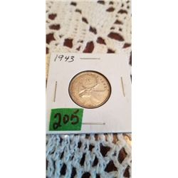 1943 25 CENT SILVER