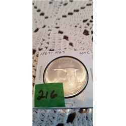 1867-1967 FLYING GOOSE CENTENIAL SILVER DOLLAR