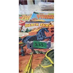2 SWAMP THING DC COMICS & 1 CHARLTON COMIC BLACK FURY