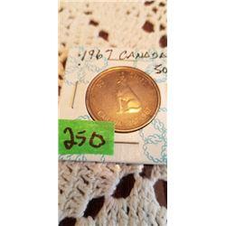 1867-1967 HOWLING WOLF CENTENIAL 50 CENT
