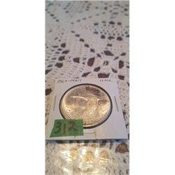 1867-1967  FLYING GOOSE SILVER DOLLAR