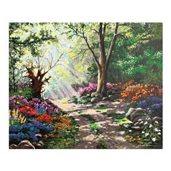 "Anatoly Metlan, ""Rays of Sunshine"" Hand Signed Limited Edition Serigraph on Canv"