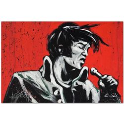 """Elvis Presley (Revolution)"" Limited Edition Giclee on Canvas by David Garibaldi"