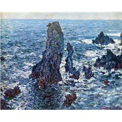 Claude Monet - Rocks on Belle-Ile (The Needles of Port-Coton)