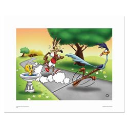 """Wile E and Road Runner Race"" Numbered Limited Edition Giclee from Warner Bros,"