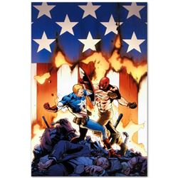 "Marvel Comics ""Ultimate Avengers #8"" Numbered Limited Edition Giclee on Canvas b"