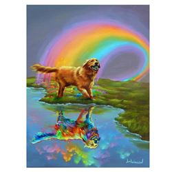 "Jim Warren, ""Gold at the End of the Rainbow"" Hand Signed, Artist Embellished AP"