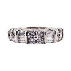 1.10 ctw Diamond Ring - 18KT White Gold