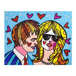 """Romero Britto, """"Hotties"""" Hand Signed Limited Edition Giclee on Canvas; Authentic"""