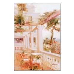 """Pino (1939-2010), """"Villa Sorrento"""" Artist Embellished Limited Edition on Canvas,"""