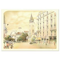 "Rolf Rafflewski, ""Paris"" Limited Edition Lithograph, Numbered and Hand Signed."